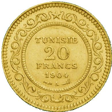 20 Frs Tunisie en Or
