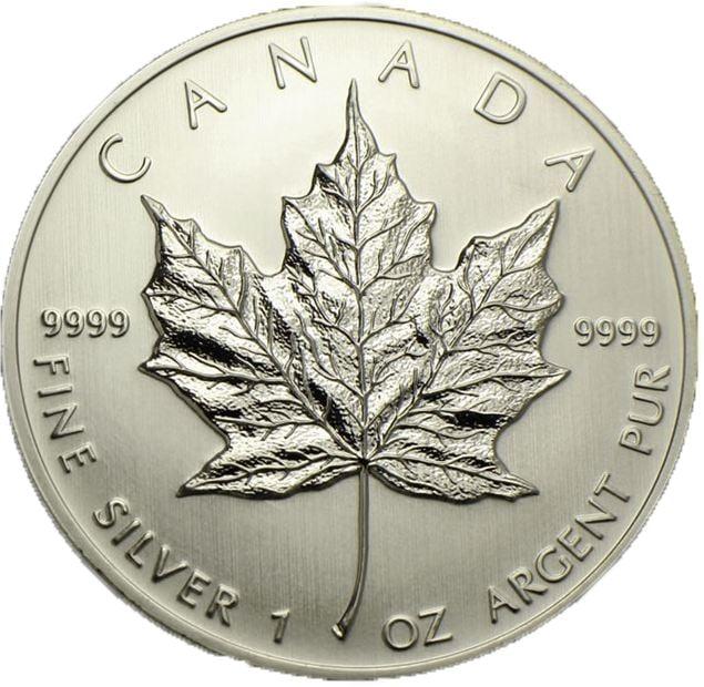 Investir dans l'argent Canadian%20Mapple%20Leaf%20pile