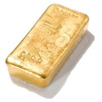 photo un lingot d or