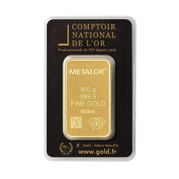 Cours et cotation du lingotin d or de 100 g prix achat - Comptoir des tuileries cours de l or ...