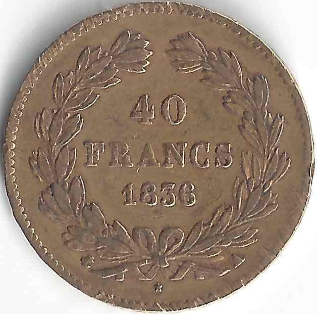 Effigie 40 Francs or