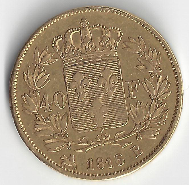 Effigie Louis XVIII 40 Francs