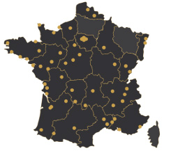 Carte de France Vente d'Or