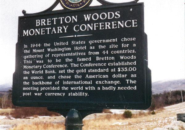 brenton woods agreement Their consensus of judgment was reflected directly in the articles of agreement of the  the benefits of the bretton woods system were a significant.