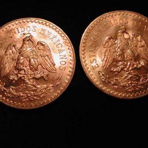 La 50 pesos en or