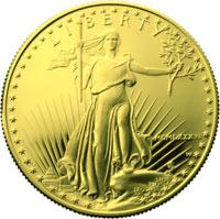 Les dollars américains en or