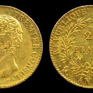 Les pièces Napoléon Or