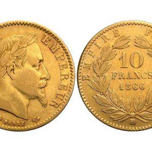 Zoom Le 10F Napoléon III tête laurée