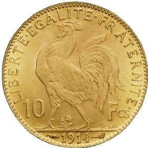 Pièce d' Or Napoléon 10 francs