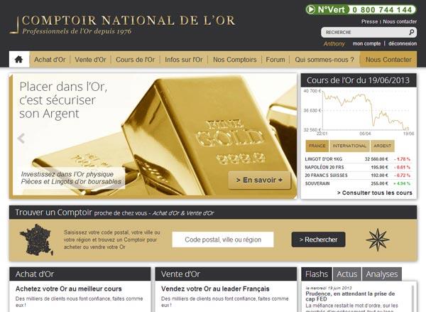 D couvrez le nouveau site - Comptoir des tuileries cours de l or ...