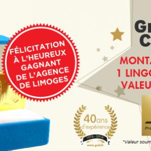 Félicitation au Grand gagnant du Jeu Concours «40 ans du Comptoir National de l'Or»