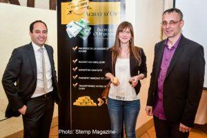 Gagnante du Jeu « 40 Ans du Comptoir National de l'Or » : le lingot d'1kg remis à la gagnante Limougeaude.