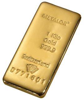 le lingot d'or le plus négocié est le kilobar