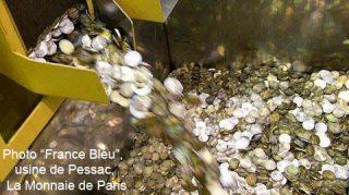 Production de pièces de monnaie de circulation