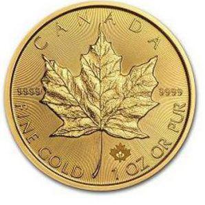 maple leaf pièces or Canada
