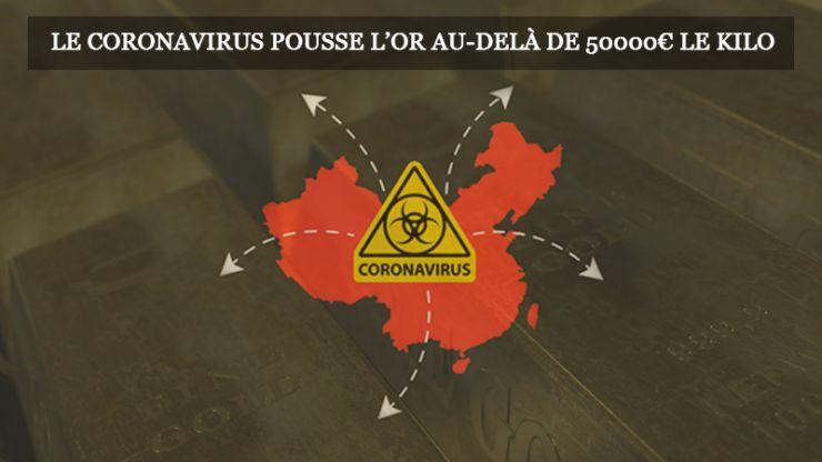 Le coronavirus pousse l'or au-delà de 50000 le kilo
