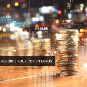 Nouveaux records pour l'or en euros