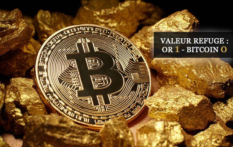 Valeur refuge : Or 1 Bitcoin 0