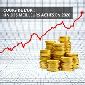Cours de l'or: un des meilleurs actifs en 2020
