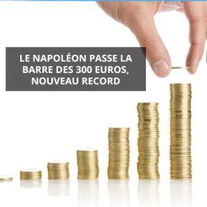 Le Napoléon passe la barre des 300 euros, nouveau record