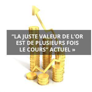 « La juste valeur de l'or est de plusieurs fois le cours actuel »