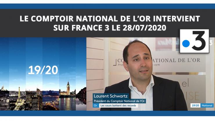 Le Comptoir National de l'Or sur France 3 le 28/07/2020
