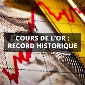 Cours de l'or: record historique