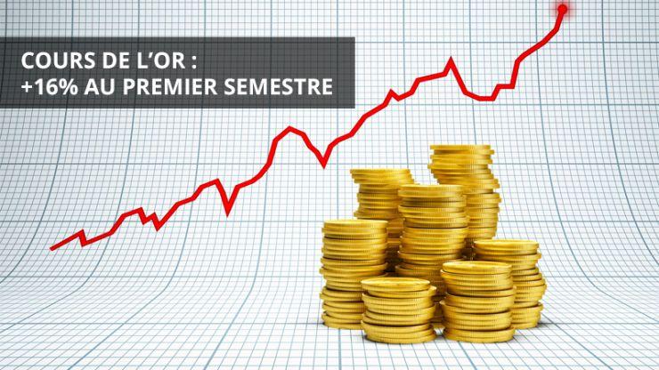 Cours de l'or: +16% au premier semestre