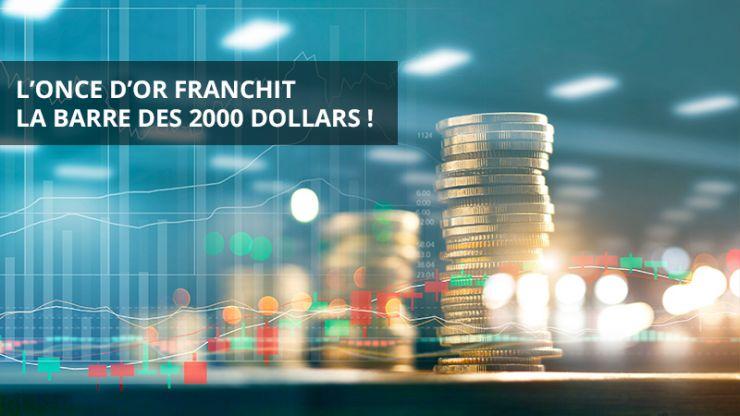 L'once d'or franchit la barre des 2000 dollars !
