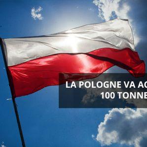 La Pologne va acheter 100 tonnes d'or