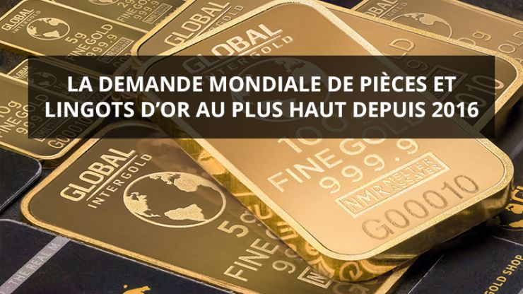 Demande mondiale pièces et lingots or